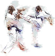 Mae Geri Karate Drawing